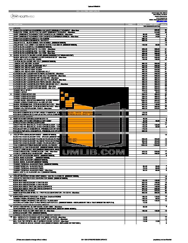 pdf for BacktoBasics Blender 5500 manual