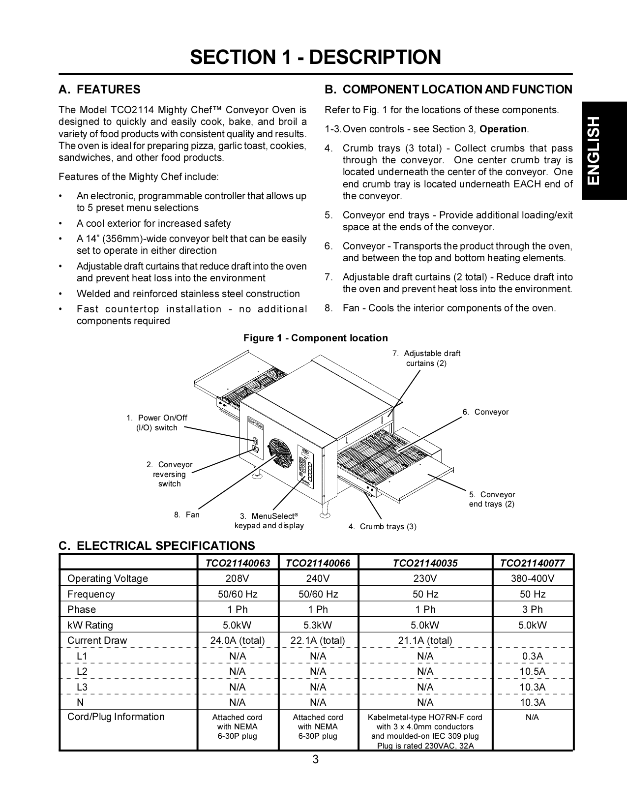 Pdf Manual For Toastmaster Oven Tco2114 Wiring Diagram Page Preview
