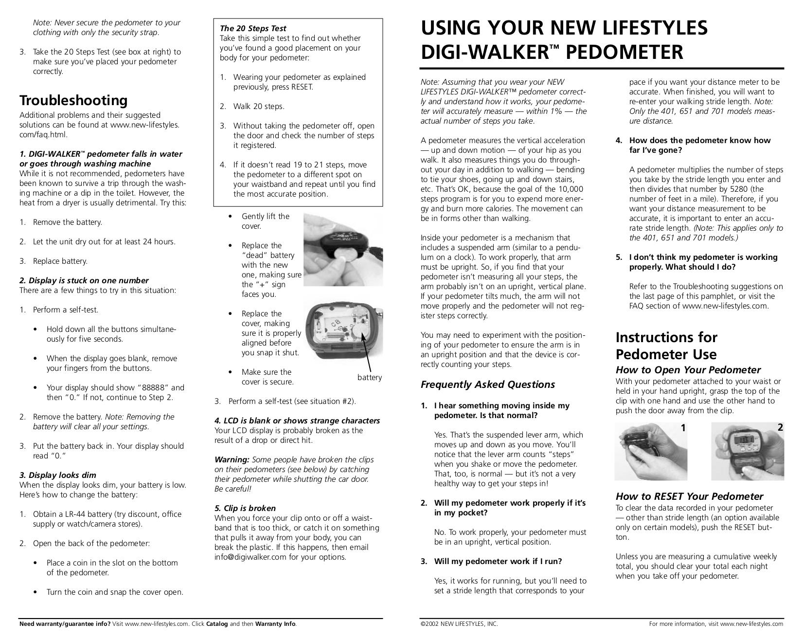 pdf for Silva Other Pedometer Memory Pedometers manual