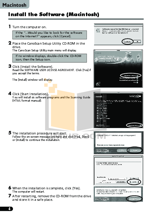 PDF manual for Canon Scanner CanoScan LiDE 110