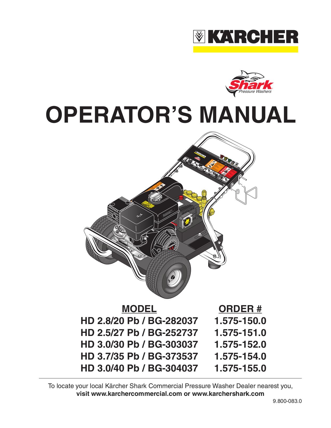 Download Free Pdf For Karcher Hd 3500 Db Pressure Washers