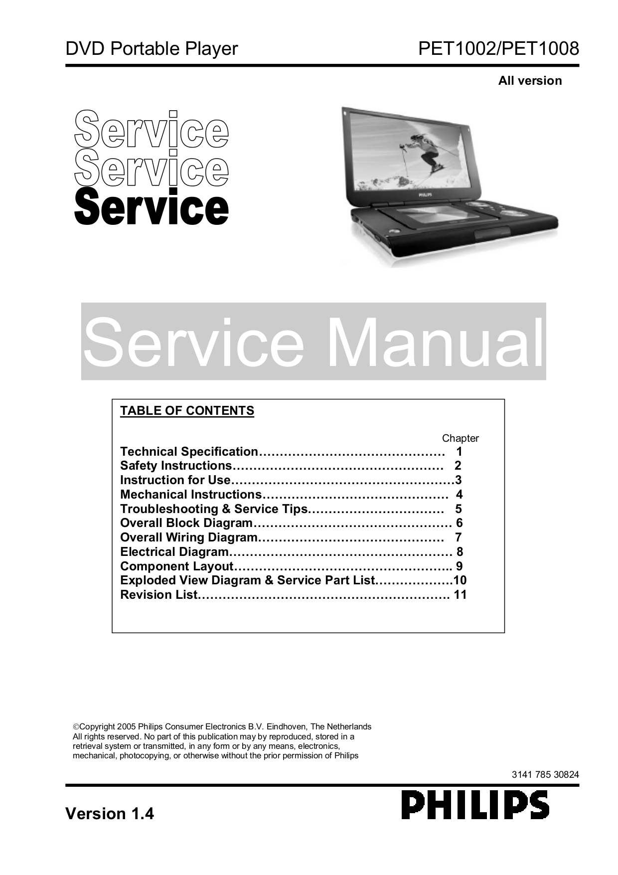 Download free pdf for philips pet1002 portable dvd player manual.