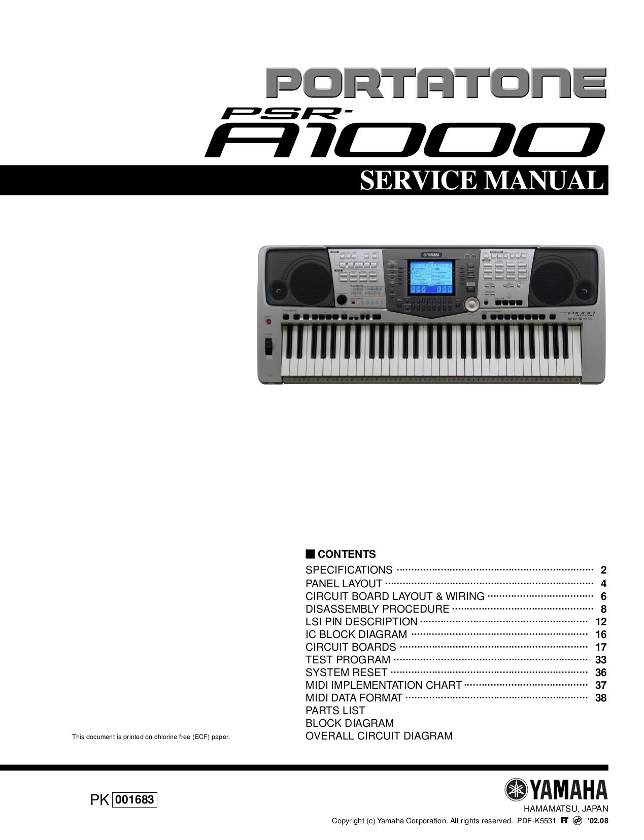 pdf for Yamaha Music Keyboard CVP-208 manual