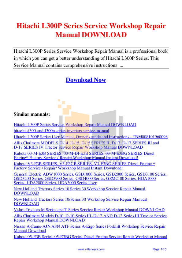 pdf for Hitachi TV 27GX01B manual