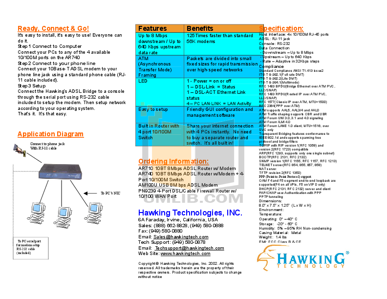 Hawking Router PN9239 pdf page preview
