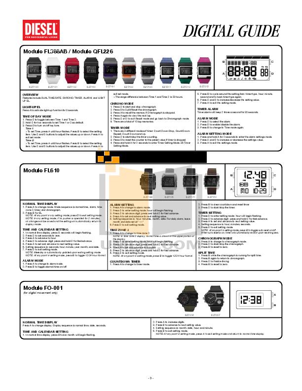 Diesel Watch DZ7164 pdf page preview