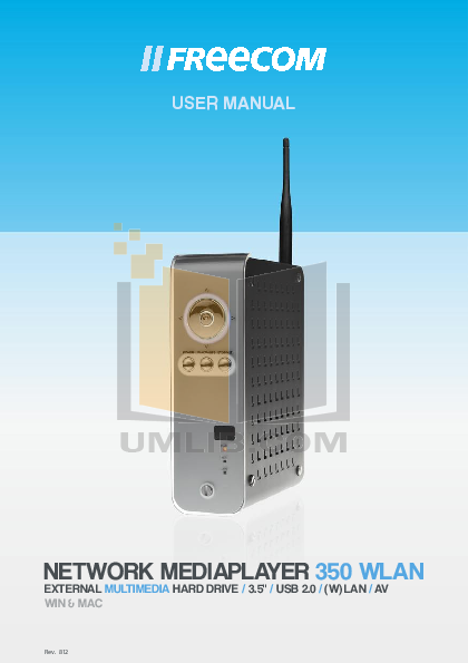 pdf for Freecom Storage MediaPlayer 3.5 manual