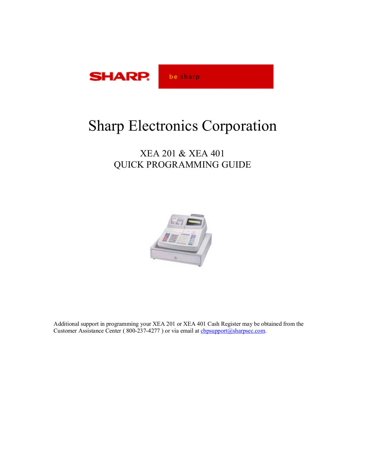 Sharp xe-a401 user manual | 113 pages.