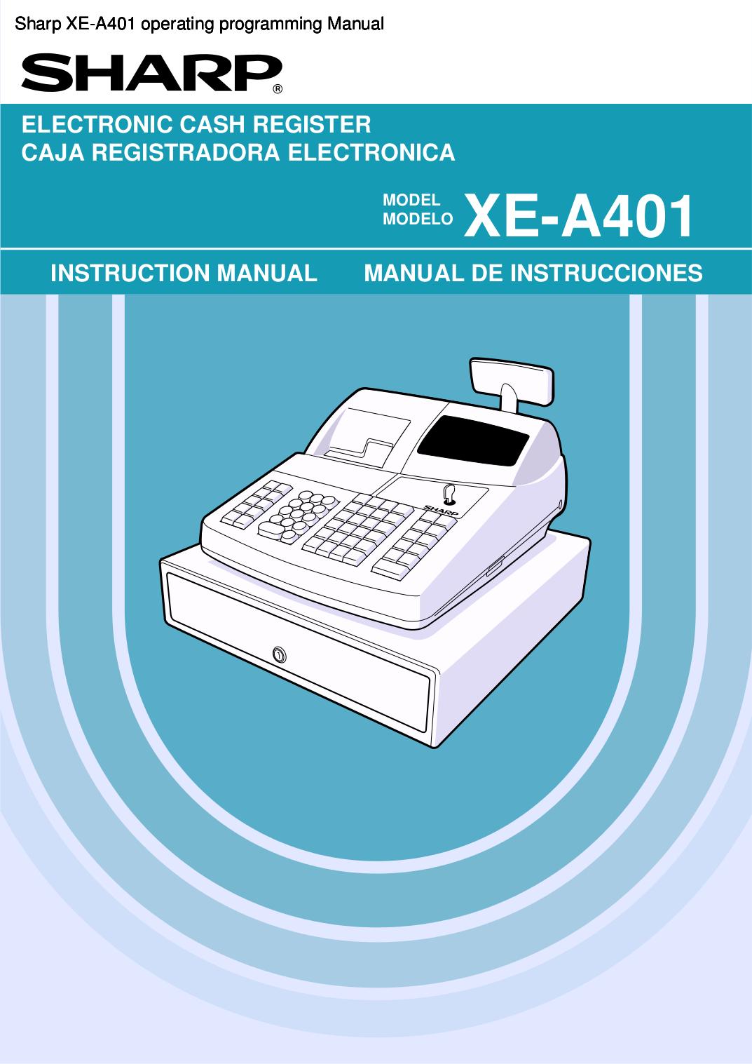 Sharp xe-a401 thermal digital cash register | ebay.