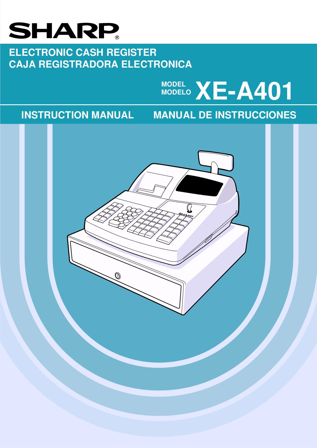 Cashregisterstore. Com > sharp xe-a505 > user (programming) manual.