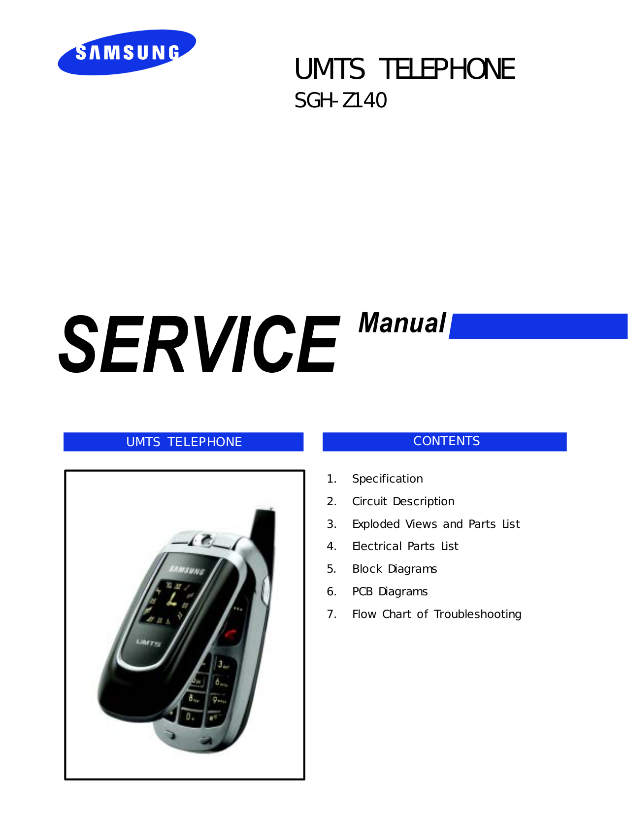 pdf for Samsung Cell Phone SGH-Z140 manual