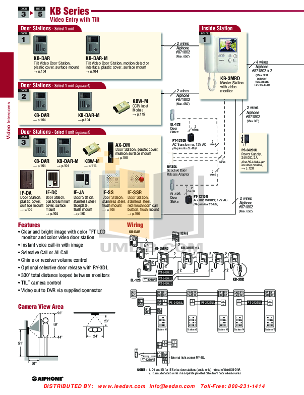 Download free pdf for aiphone le-da intercoms other manual.