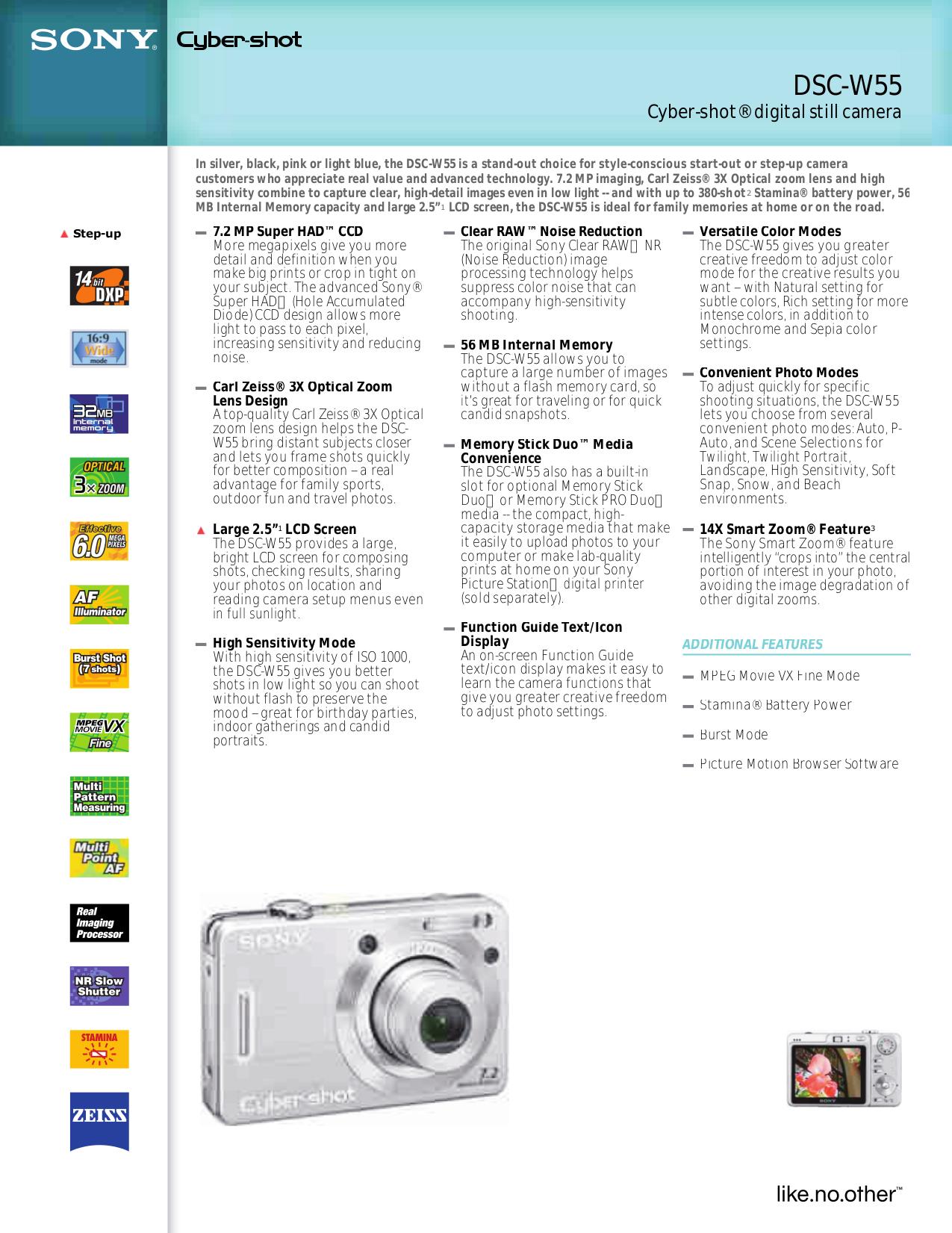 download free pdf for sony cybershot cyber shot dsc w55 digital rh umlib com sony cyber dsc-w55 manual sony cyber dsc-w55 manual