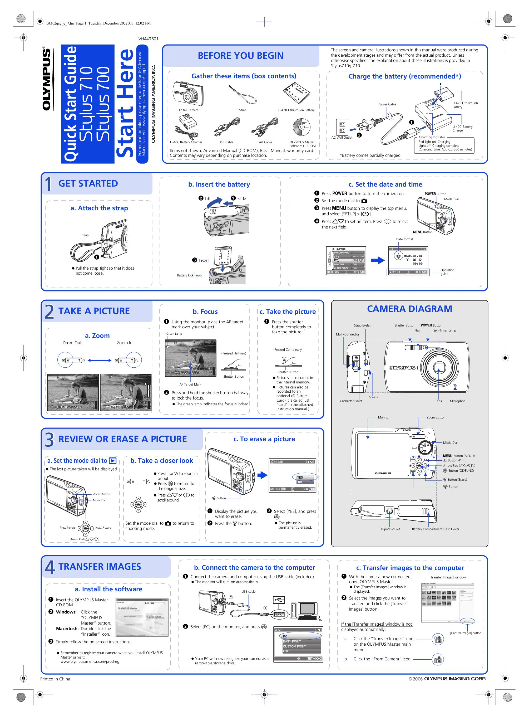 download free pdf for olympus stylus 710 digital camera manual rh umlib com Olympus Stylus Film Olympus Stylus Tough