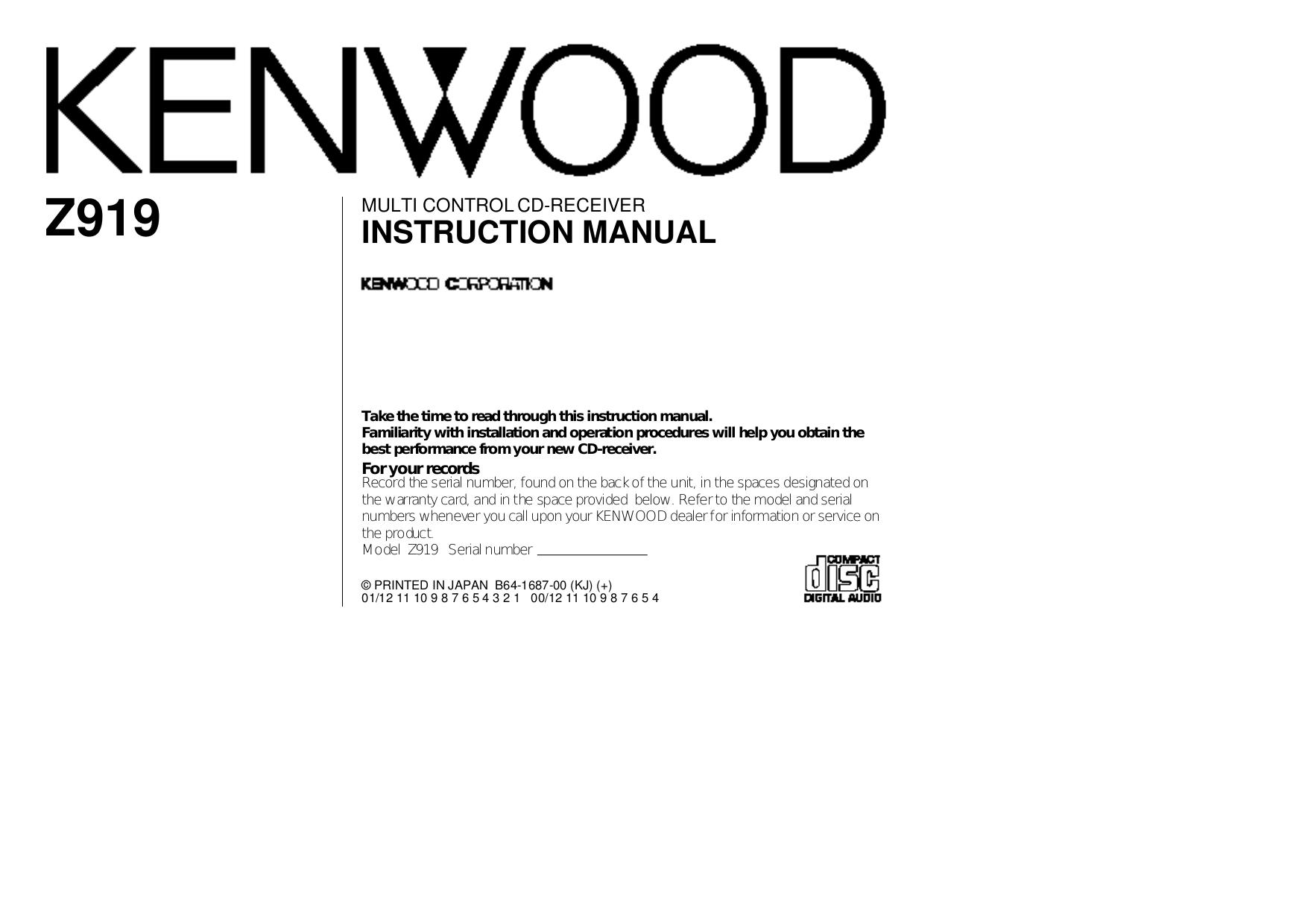 download free pdf for kenwood kac x501f car amplifier manual rh umlib com