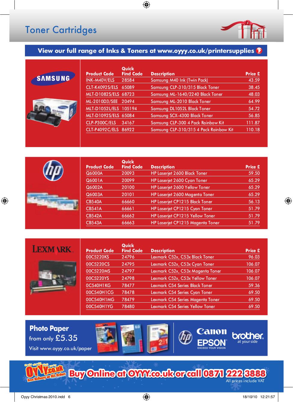 Kodak Multifunction Printer ESP 5250 pdf page preview