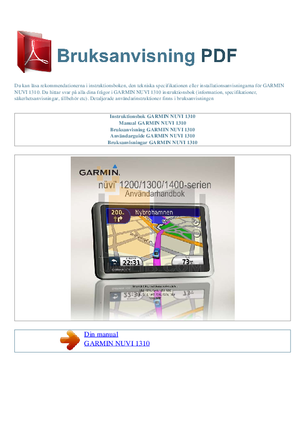 garmin nuvi 255w owners manual pdf