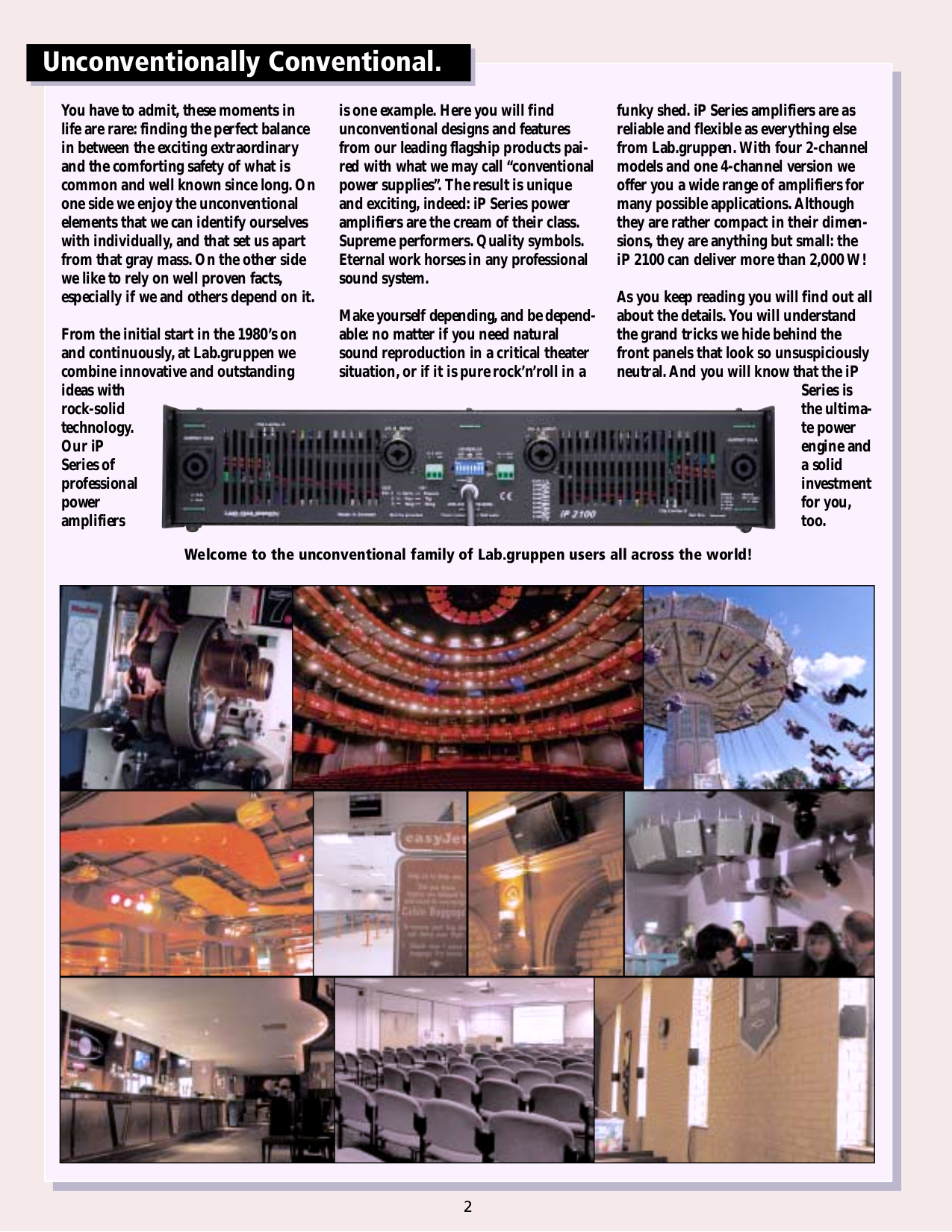 Lab.gruppen Amp iP Series IP 2100 pdf page preview