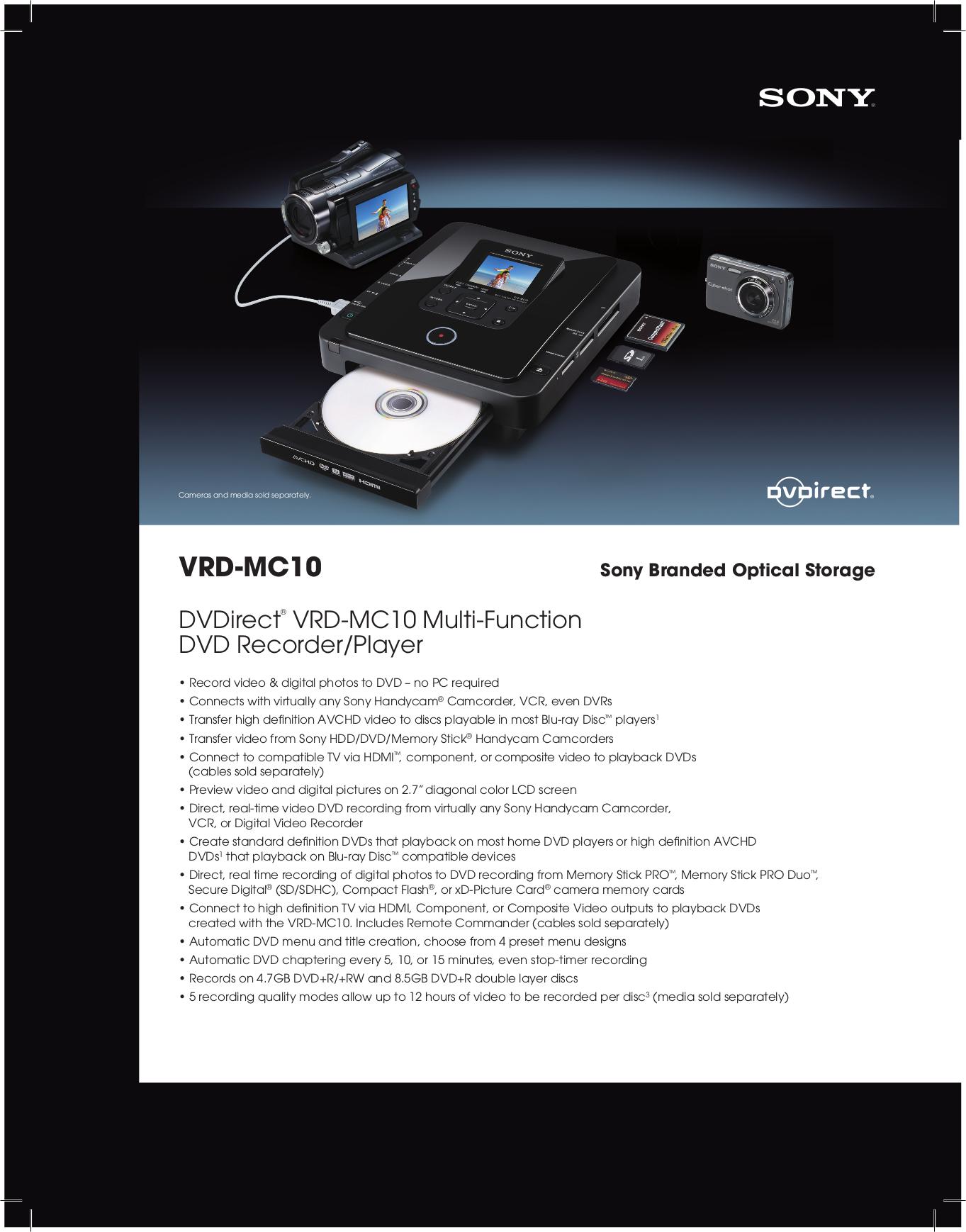 download free pdf for sony vrd mc10 dvd players manual rh umlib com sony vrd-mc10 user manual MC10 Gun