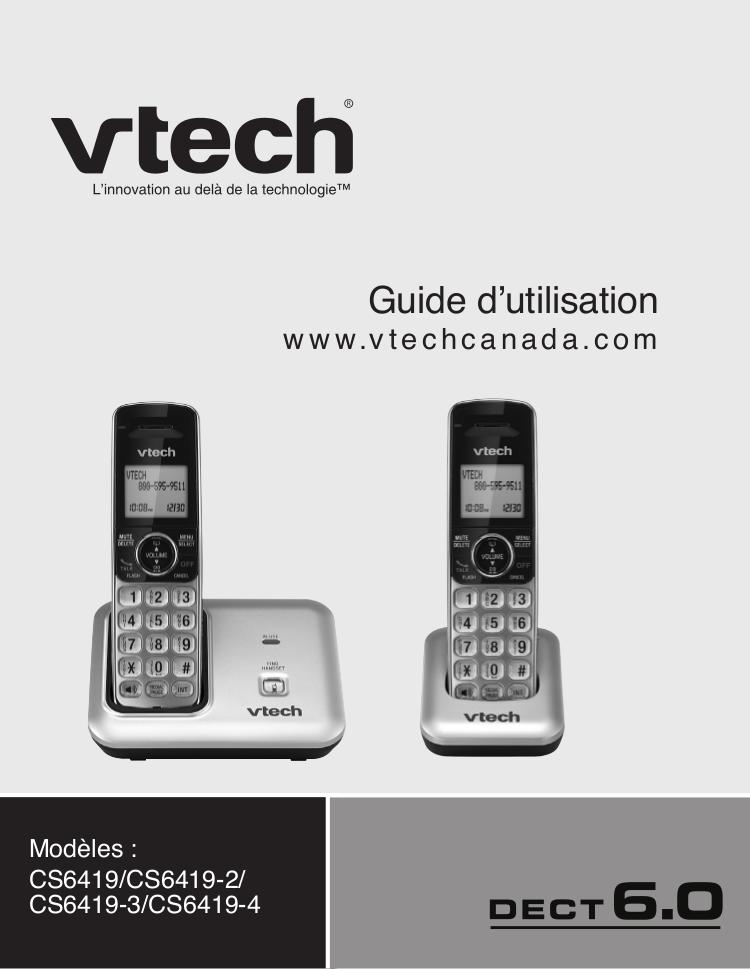 pdf for Vtech Telephone CS6419-2 manual