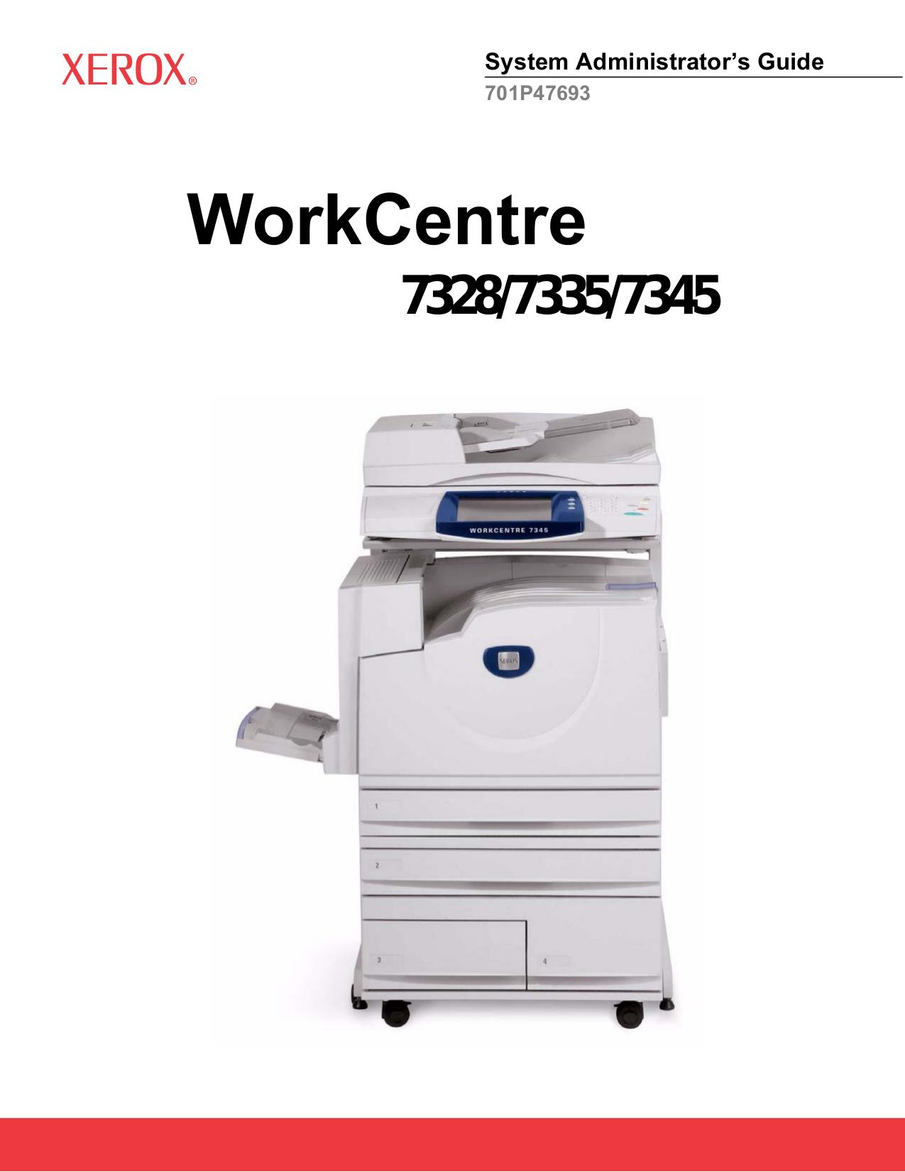Download free pdf for Xerox WorkCentre 275 Printer manual