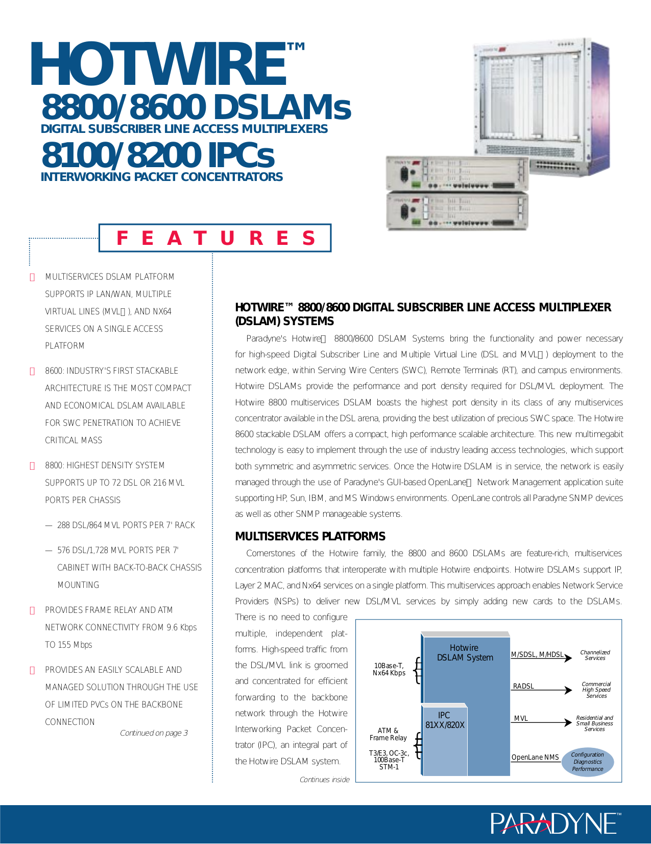 pdf for Nortel Router HotWire 8800 DSLAM manual