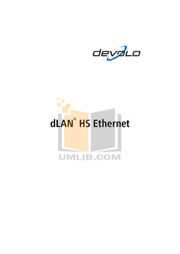 pdf for Devolo Other dLAN Highspeed Ethernet Adapter manual