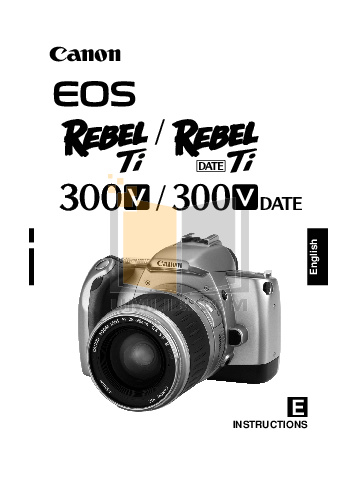 pdf for Canon Digital Camera EOS 400D manual