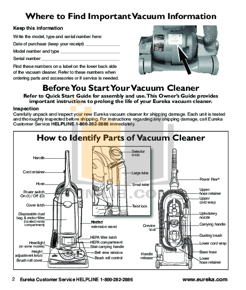 pdf manual for eureka vacuum boss smartvac 4870pz rh umlib com eureka vacuum manual 3271 eureka vacuum manuals online
