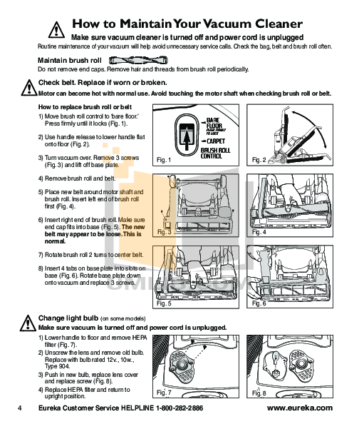 pdf manual for eureka vacuum boss smartvac 4870pz rh umlib com Eureka the Boss Vacuum Manual Eureka Vacuum Cleaner Parts List