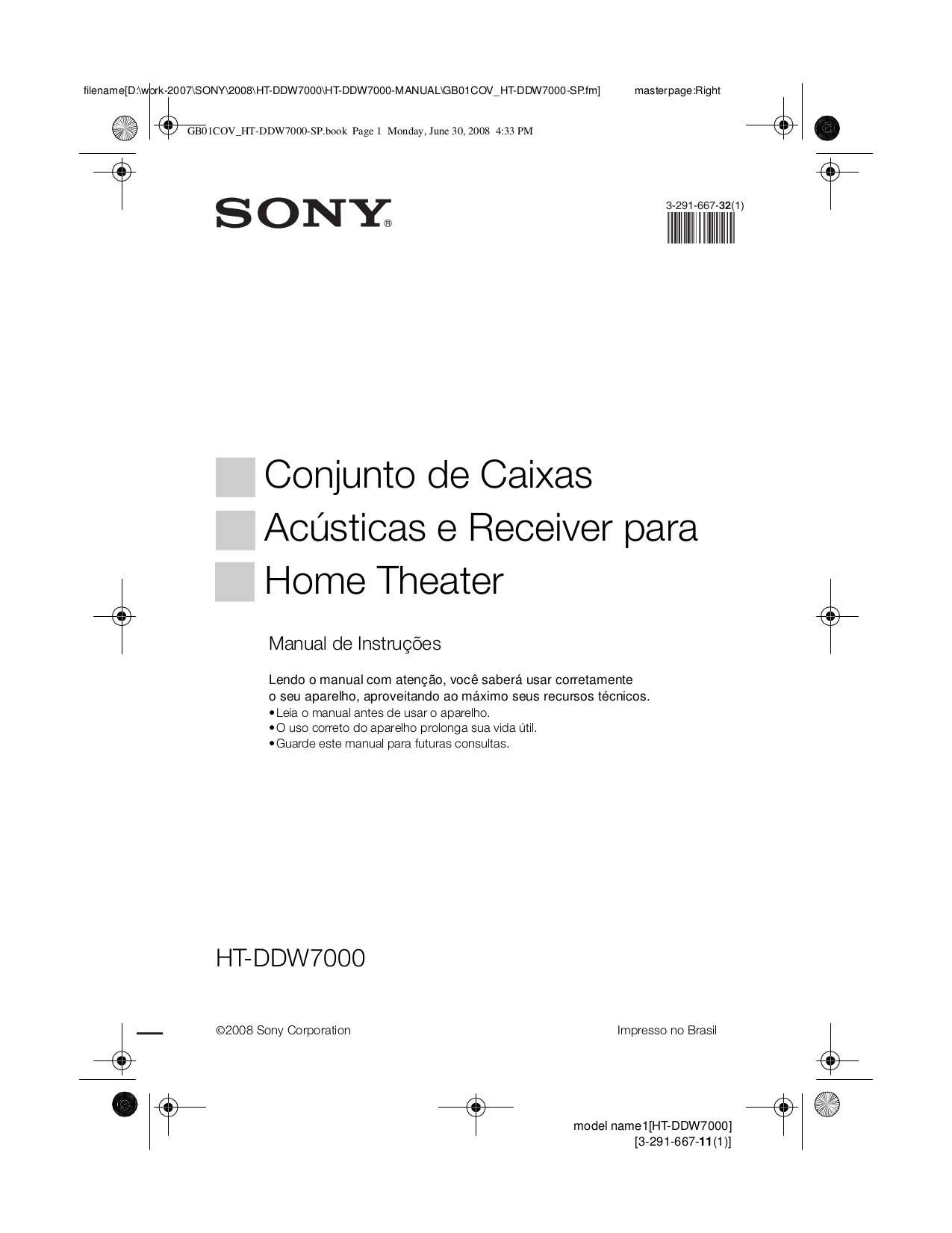 Download free pdf for sony ht ddw1500 home theater manual