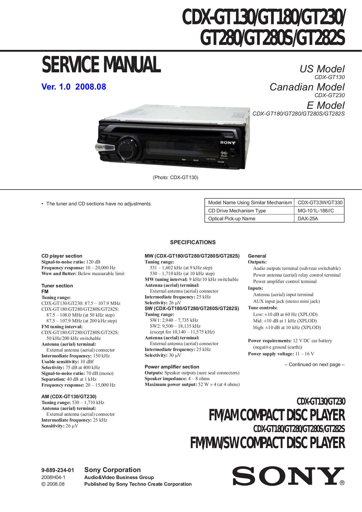 sony cdx gt130 wiring diagram manual model mo cdx gt130 wiring diagram download free pdf for yamaha cdx-730 cd player manual #4
