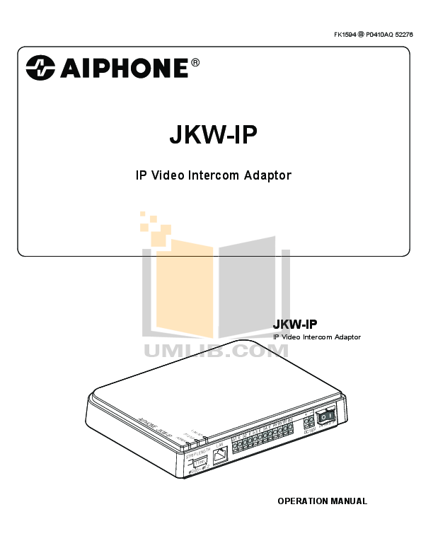 pdf for Aiphone Other MK-1MD Intercoms manual