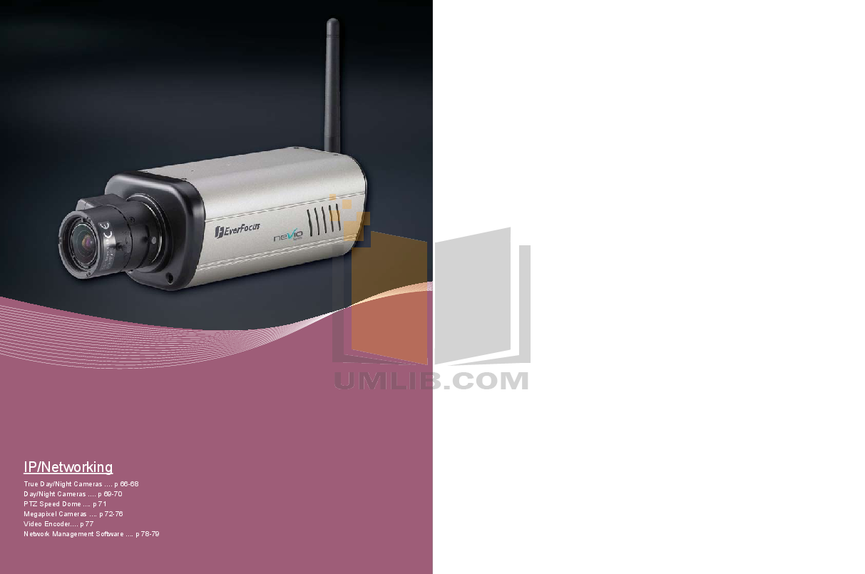 pdf for EverFocus Security Camera EAN800AW manual
