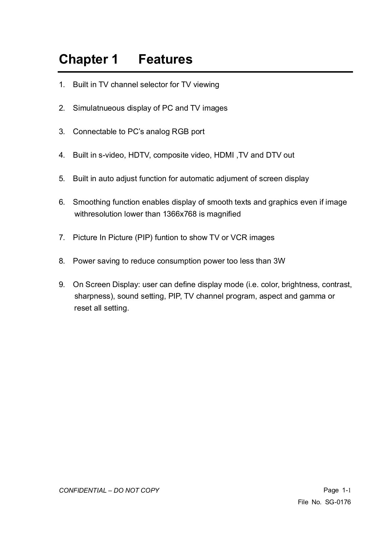 PDF manual for Vizio TV VL470M