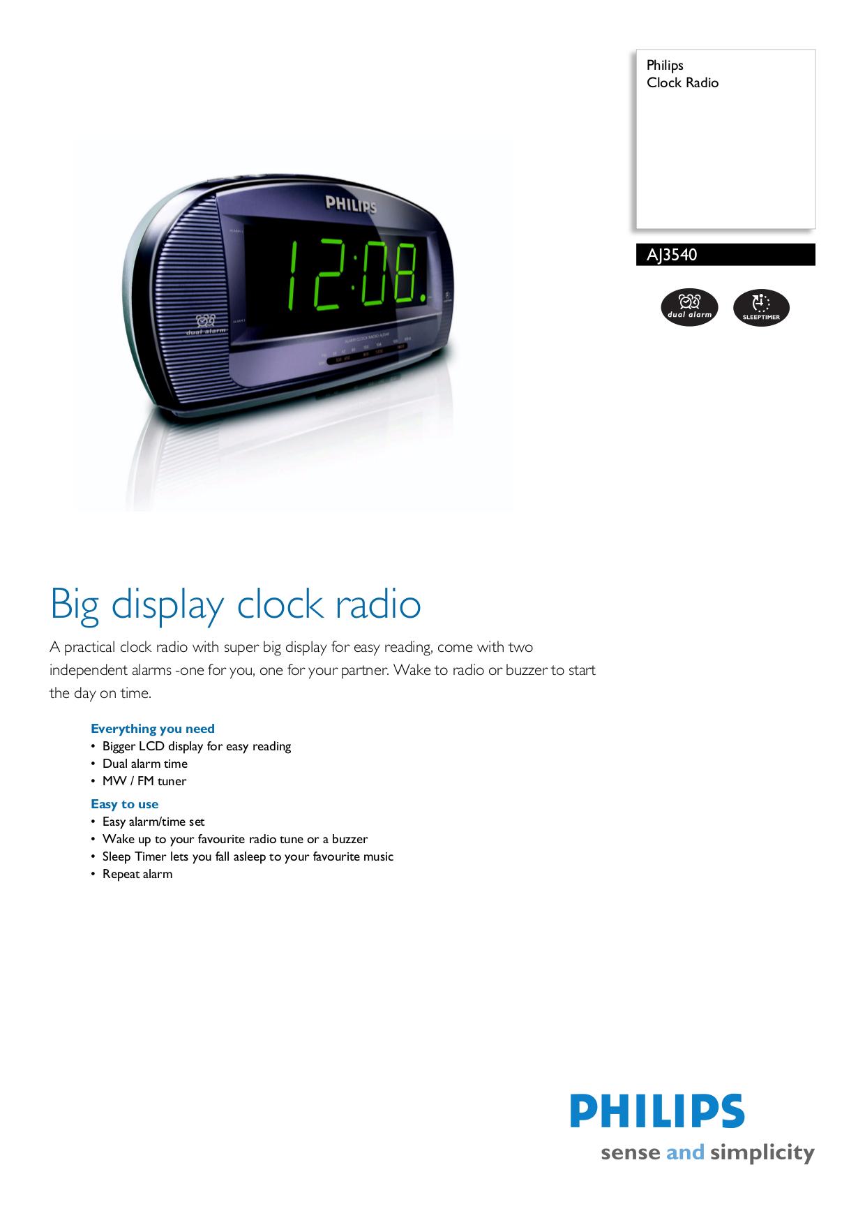 download free pdf for philips aj3540 clock radio manual rh umlib com philips alarm clock radio aj3540 manual Philips Dual Alarm Clock Radio