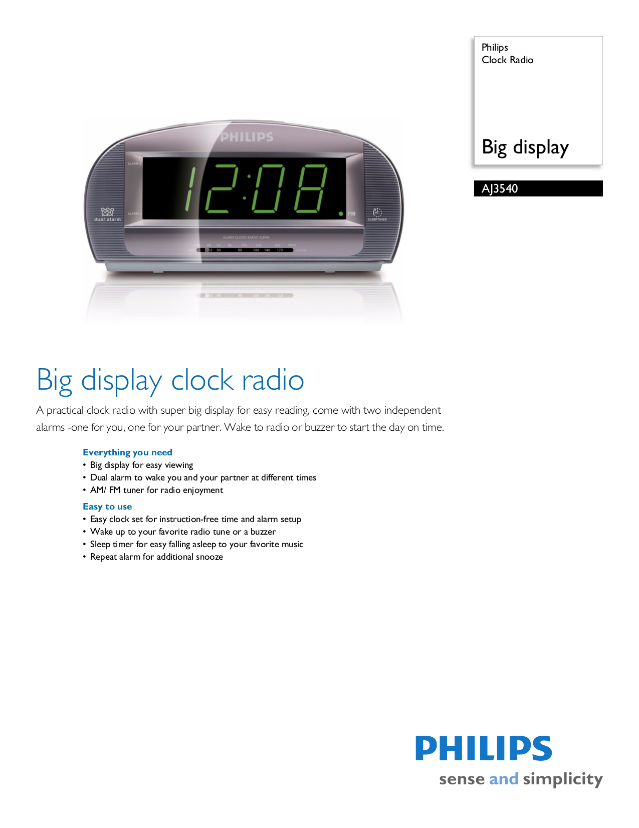 download free pdf for philips aj3540 clock radio manual rh umlib com Philips Clock Radio Time Set philips clock radio aj3540 manual