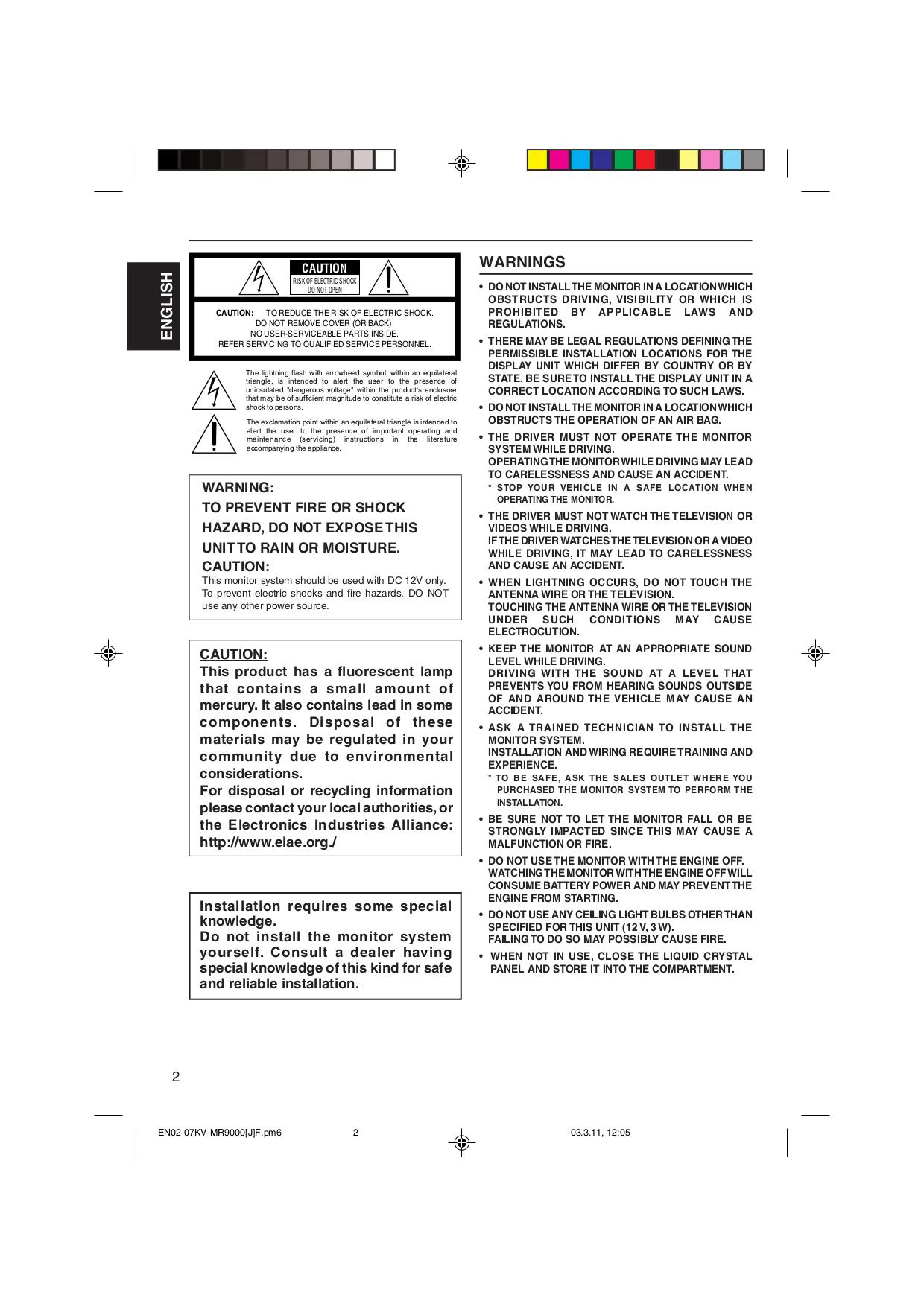 ... JVC Car Receiver KD-DV5000 pdf page preview ...