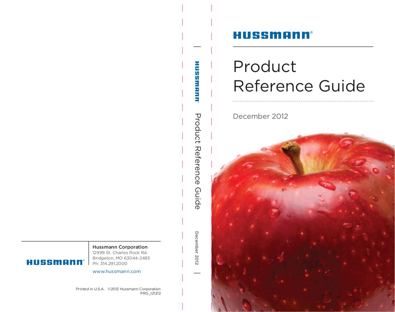 pdf for Hussmann Other SHVSS-R Merchandisers manual