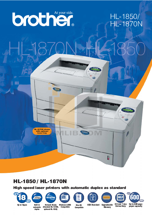 pdf for Brother Printer HL-1870N manual