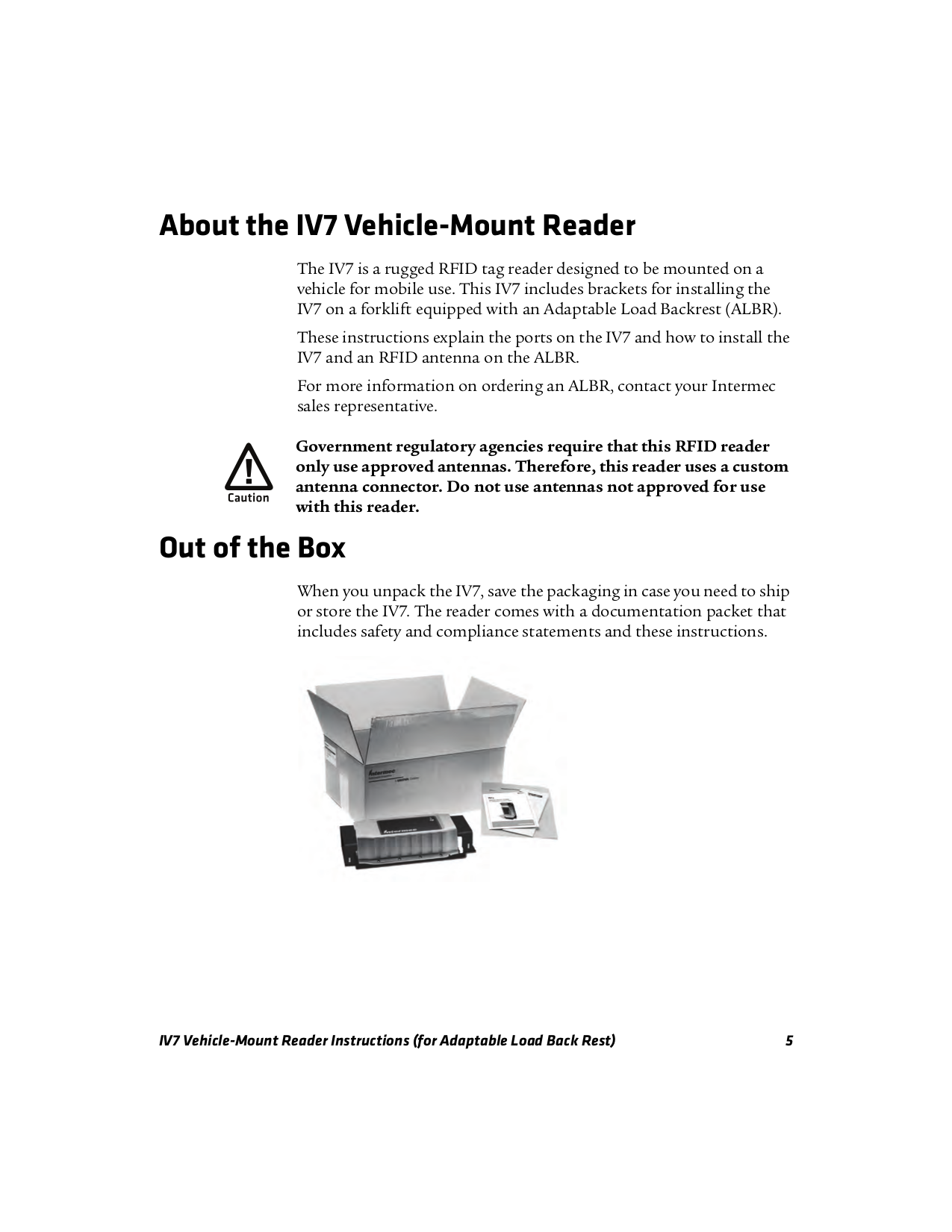 PDF manual for Intermec Other IV7 RFID Reader