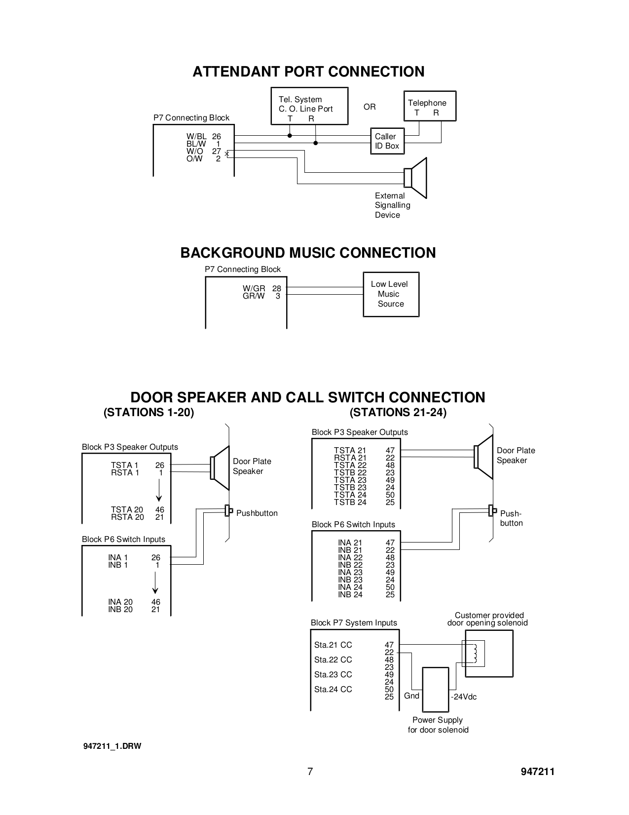 PDF manual for Valcom Other V2925A Intercom Systems