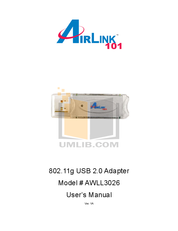 pdf for Airlink Other AWLL3026 Adapters manual