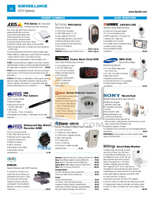 pdf for EverFocus Security Camera EHD730 manual