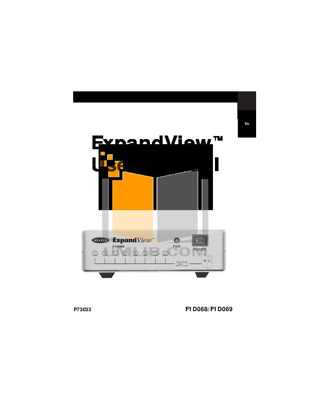 pdf for Belkin Switch F1D069 manual