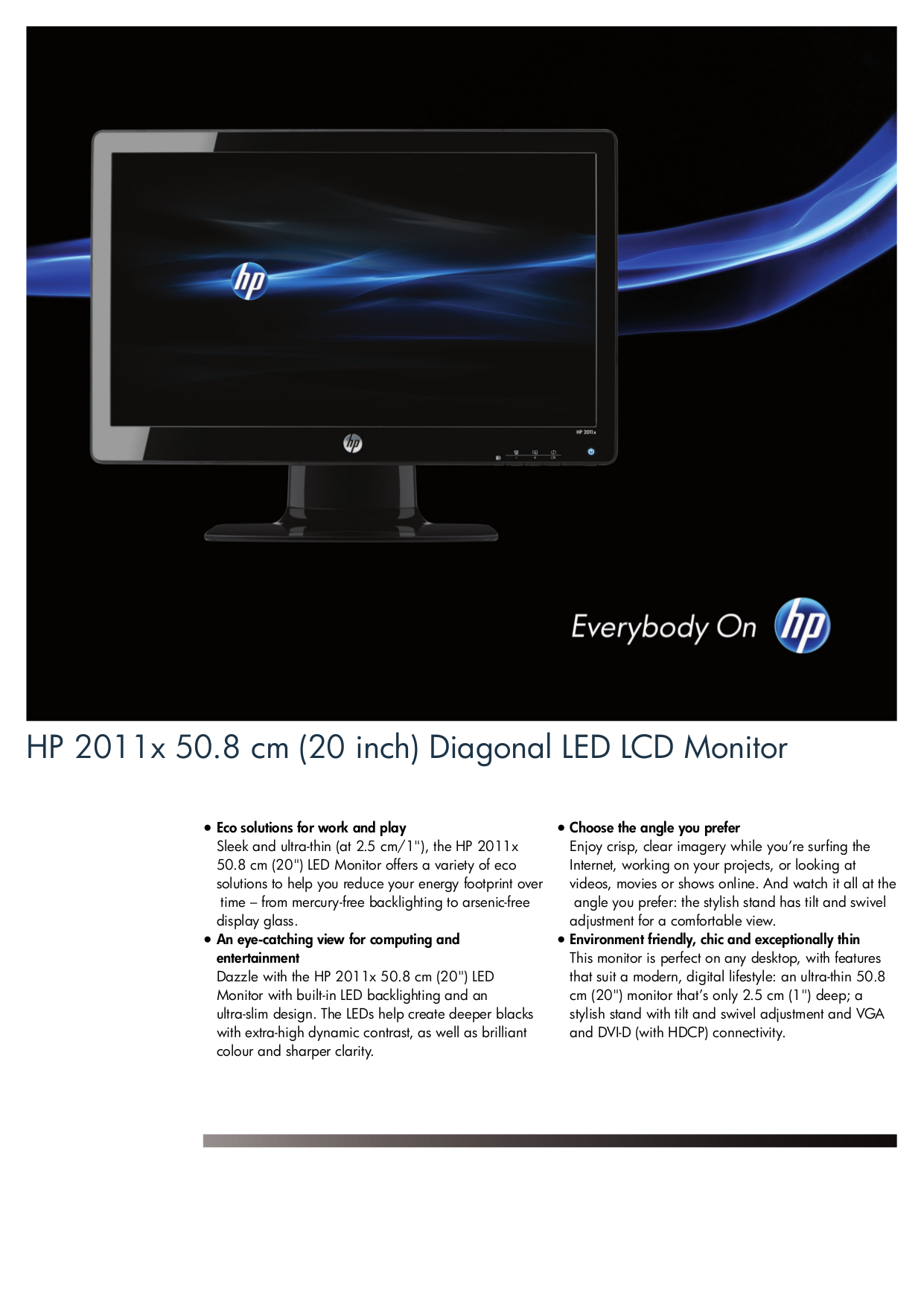 download free pdf for hp 2011x monitor manual rh umlib com HP Model 2711X HP 2711X Monitor LED