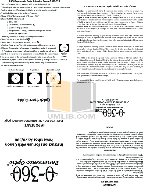 pdf for Canon Digital Camera Powershot A570 IS manual