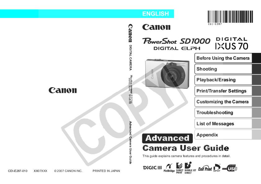 download free pdf for canon powershot sd1000 digital camera manual rh umlib com Digital Camera USB Cable Sony Digital Camera User Manual