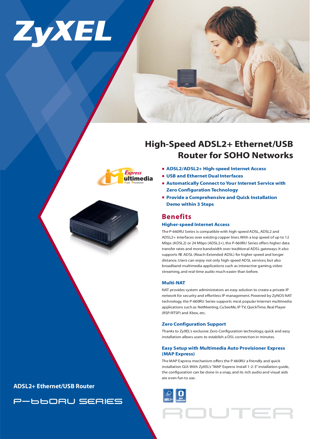 pdf for Zyxel Router P-660RU-T3 manual