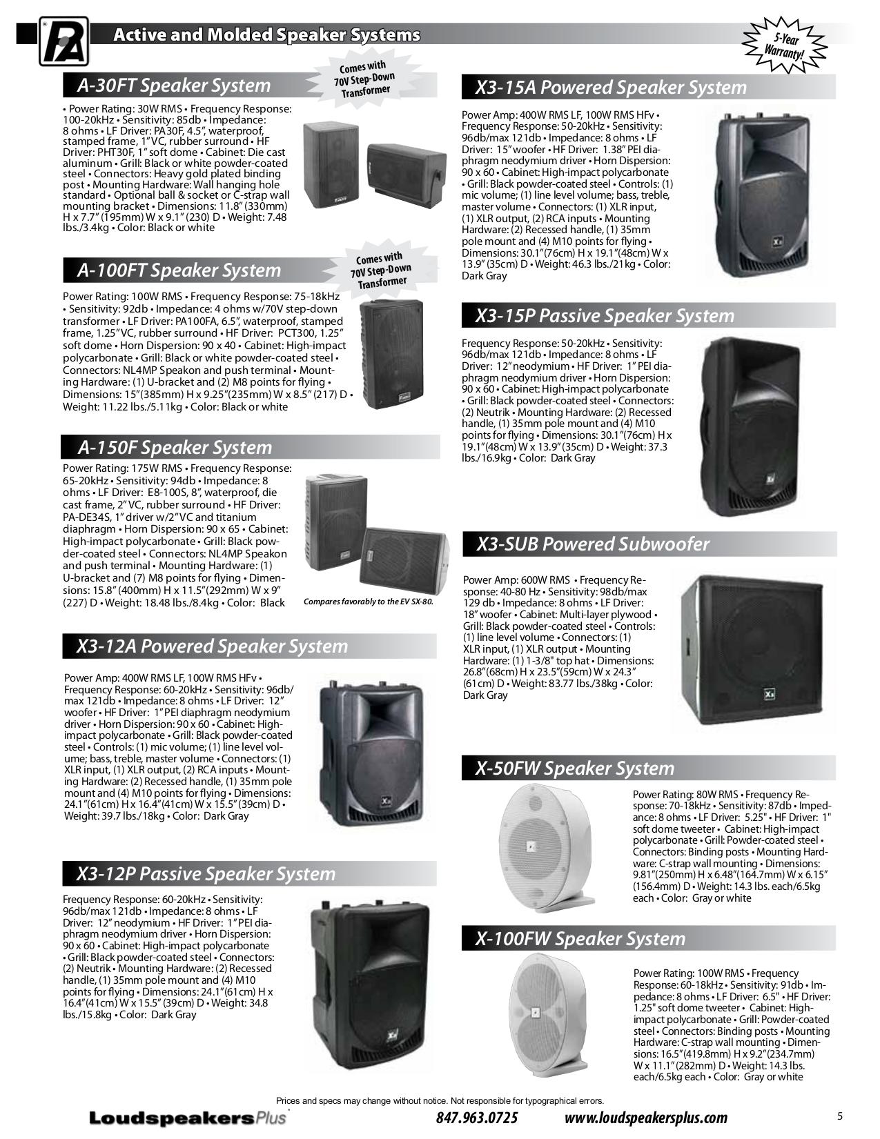 PDF manual for JBL Speaker MR38